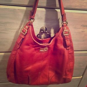 COACH leather purse - three separate compartments